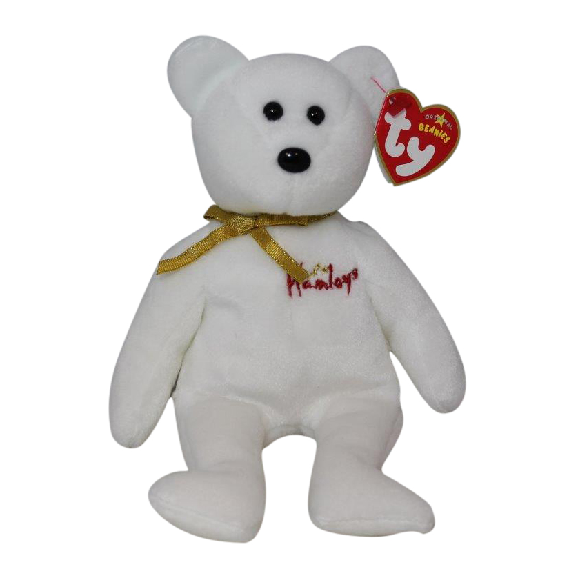7814f90e799 Ty Beanie Baby William - MWMT (Bear Hamleys UK Country Exclusive ...